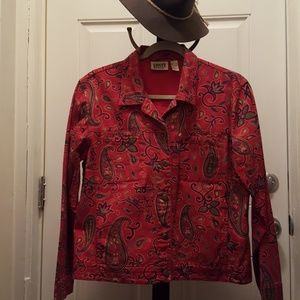 Chico's Red Paisley Jacket